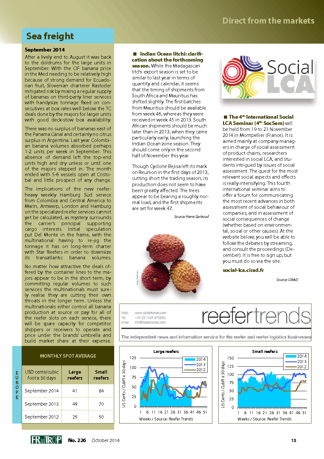 Magazine FruiTrop n°226 (vendredi 31 octobre 2014)